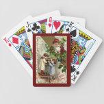 Naipes del navidad baraja de cartas