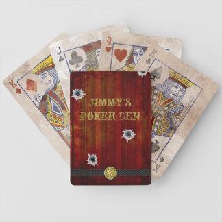 Naipes del oeste viejos del póker del salón barajas de cartas