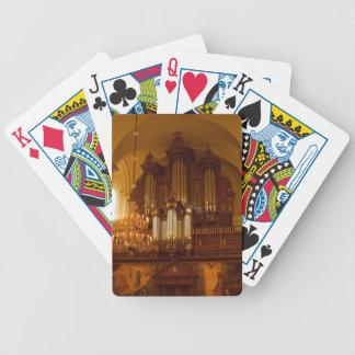 Naipes del órgano cartas de juego