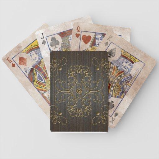 naipes del ornamento baraja de cartas