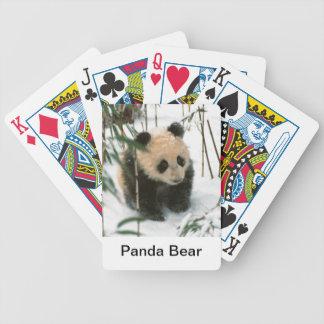 Naipes del oso de panda baraja