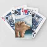 Naipes del oso polar baraja cartas de poker