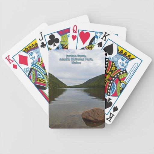 Naipes del parque del Acadia de la charca de Jordo Cartas De Juego