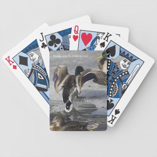 Naipes del pato baraja de cartas