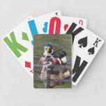 Naipes del pato de madera cartas de juego