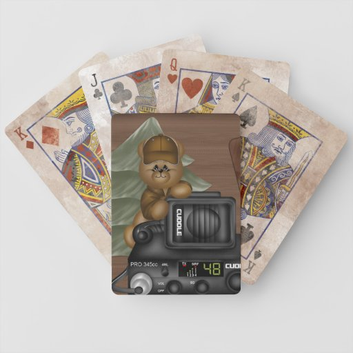 Naipes del peluche del camionero barajas de cartas