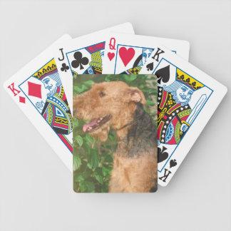 Naipes del perro de Airedale Terrier Baraja Cartas De Poker