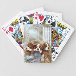 Naipes del perro de perritos de St Bernard Baraja