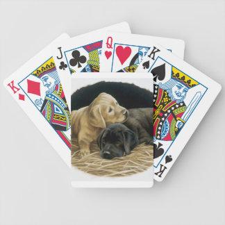 Naipes del perro de perritos del labrador retrieve barajas
