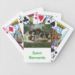 Naipes del perro de St Bernard Barajas De Cartas