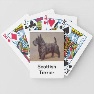 Naipes del perro de Terrier del escocés Barajas De Cartas
