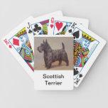 Naipes del perro de Terrier del escocés Cartas De Juego