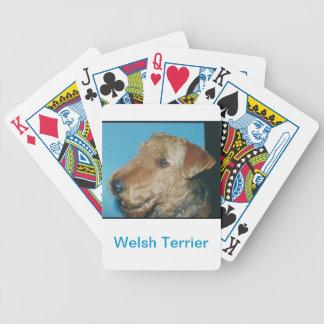 Naipes del perro de Terrier galés Barajas De Cartas