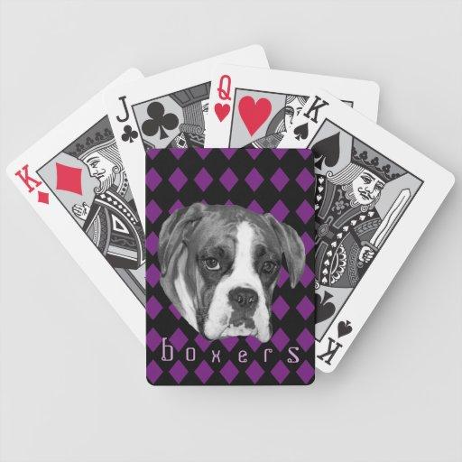 Naipes del perro del boxeador del Harlequin Baraja Cartas De Poker