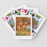 Naipes del perro del golden retriever cartas de juego