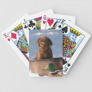 Naipes del perro del labrador retriever del chocol baraja
