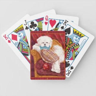 Naipes del perro maltés baraja cartas de poker