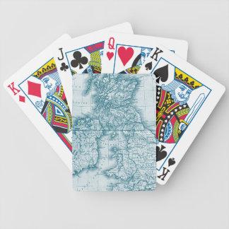 Naipes del personalizado de la antigüedad del Viej Baraja Cartas De Poker