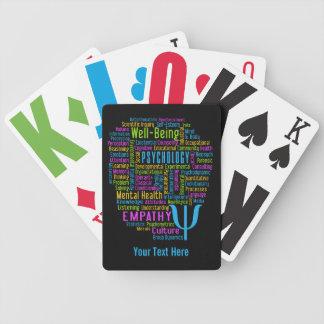 Naipes del personalizado de la nube de la palabra  cartas de juego