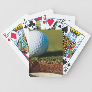 Naipes del personalizado de la pelota de golf barajas
