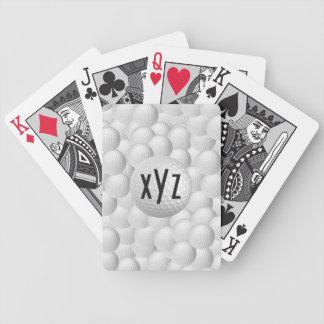 Naipes del personalizado de las pelotas de golf barajas de cartas