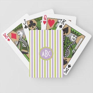 Naipes del personalizado de las rayas de la cal y  baraja de cartas