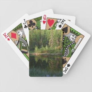 Naipes del personalizado de las reflexiones de la  cartas de juego