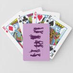 Naipes del personalizado de las siluetas de los ba baraja cartas de poker