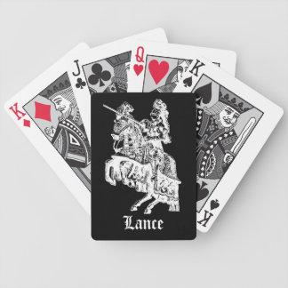 Naipes del personalizado del caballero negro y bla baraja cartas de poker