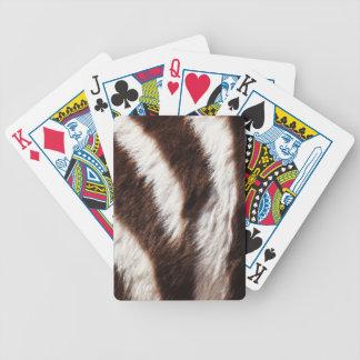 Naipes del personalizado del estampado de zebra baraja