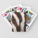 Naipes del personalizado del estampado de zebra barajas de cartas