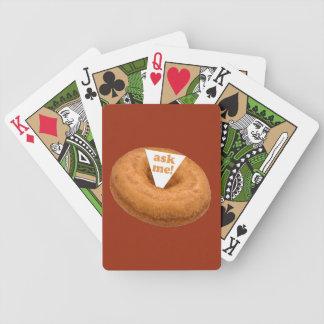 Naipes del personalizado del humor del buñuelo baraja cartas de poker
