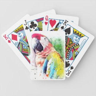 Naipes del personalizado del Macaw Barajas De Cartas