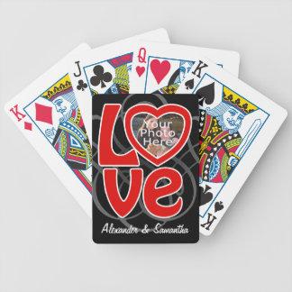 Naipes del personalizado del marco de la foto del  barajas de cartas