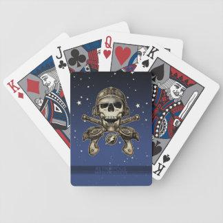 Naipes del pirata del espacio armas de rayo barajas de cartas
