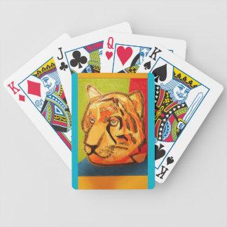 Naipes del póker con diseño intrépido del tigre baraja de cartas
