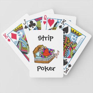 Naipes del póker de tira baraja cartas de poker