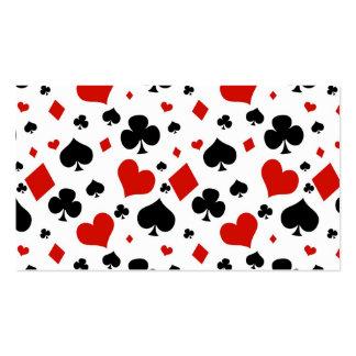 Naipes del póker plantillas de tarjeta de negocio