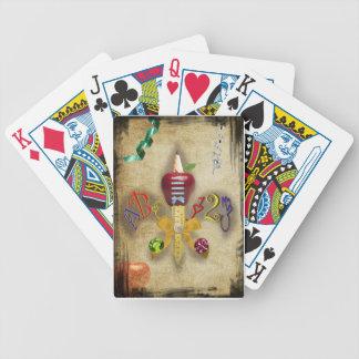 Naipes del profesor baraja cartas de poker