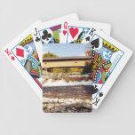 Naipes del puente cubierto de Swiftwater Baraja Cartas De Poker