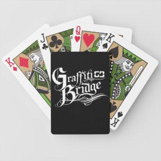 Naipes del puente de la pintada barajas de cartas