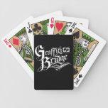 Naipes del puente de la pintada baraja cartas de poker