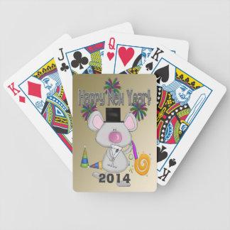 Naipes del ratón del Año Nuevo Barajas De Cartas