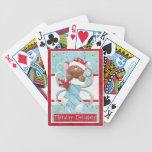 Naipes del ratón del día de fiesta del navidad baraja de cartas