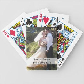 Naipes del recuerdo del boda