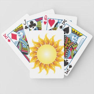Naipes del resplandor solar baraja de cartas