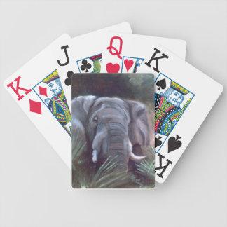 Naipes del retrato del elefante barajas de cartas