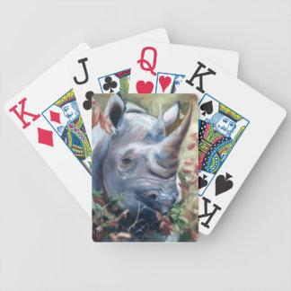 Naipes del rinoceronte barajas de cartas