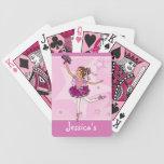 Naipes del rosa de la bailarina del chica barajas de cartas