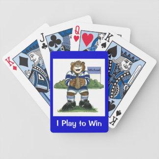 Naipes del rugbi baraja de cartas